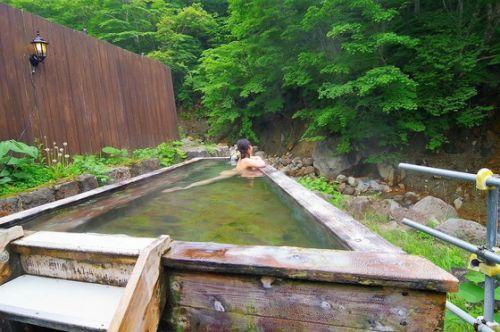 滑川温泉 「福島屋旅館」 露天風呂